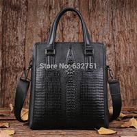 Free Shipping fashion desigual 3D crocodile alligator Genuine leather fashion men messenger bag bussiness Travel shoulder bag