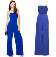 New 2014 hot selling new Summer women wide-legged jumpsuit chiffon casual jumpsuit  with cheapest price and free shipping