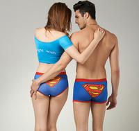 1 set = 2pcs, 21 Style for you Choose Cartoon Seamless Lovers Underwear  Ladies'   Panties  Men's Boxer Shorts