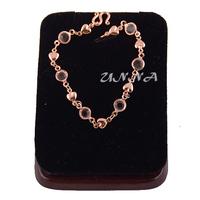 1pcs Woman Girls 18K Rose Gold Filled Link Heart Bangles Bracelet New E193