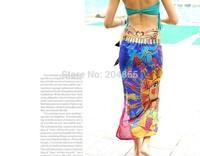 Brand Hot Women Scarf Fashion Sexy Halter Ladies sarong Bikini Beachwear Cover Up Beach Wrap Pareo Dress Skirts Towel Mantillas
