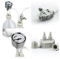DIY CO2 System Kit Bottle Cap Diffuser Atomiser Check pro tube Valve Plant Aquarium Kit Gauge D201