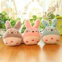 Wholesale Miyazaki Hayao Cute TOTORO Plush Stuffed Toy doll Phone Charm Strap Lanyard Pendant Bag Key Chain 30pcs/Lot