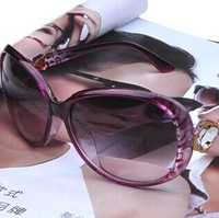 Free Shipping Ladies' sunglasses wholesale 2014 new diamond Sunglasses SG052