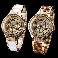 Free Shipping Retail New Arrival GENEVA Brand 4 Colors Women Rhinestone Watches,Alloy Ceramic Lady Dress Wrist Watch,Gift Watch