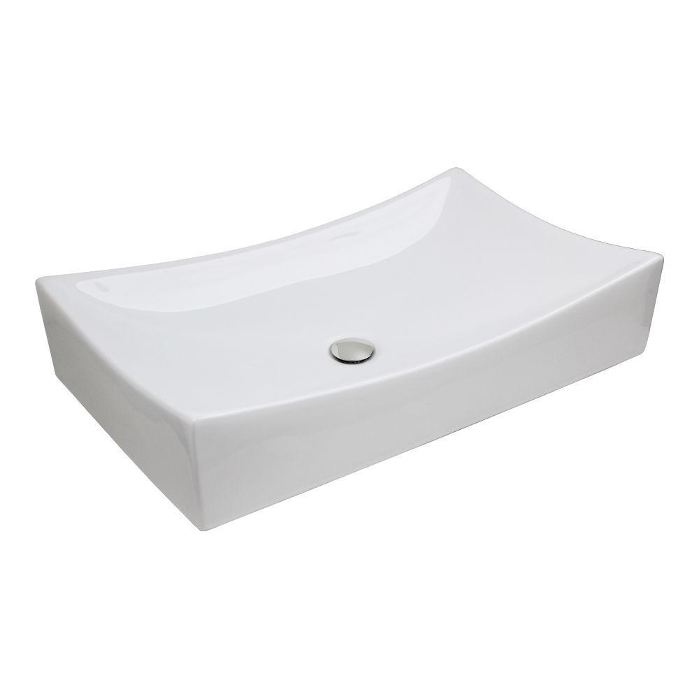Vessel Vanity Sink Basin & Chrome PopUp Drain Combo-in Bathroom Sinks ...