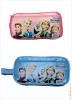 12pcs 2014 Frozen princess Elsa anna Pencil case Bag Red NEW Children Girl's Cartoon Fashion Pencil Bag