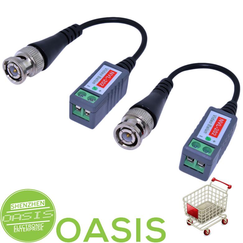 6pcs Mini Camera Video Balun BNC Connector CAT5 Coaxial CCTV UTP Extender Cable(China (Mainland))
