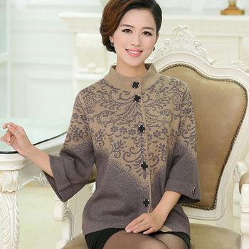Новый 2015 весна женская утолщение свитер верхняя одежда мать одежда наручные длина ...