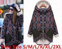 New2014High Quality Warm Women Long Sleeve Thicken Fleece Hooded Cotton ClothesThermal Parka Slim Lady Winter Coat JacketOutwear