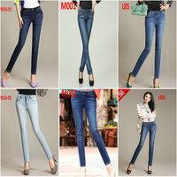 Famale denim pants New 2014 fashion women clothing jeans women jeans Hip skinny slim long trousers woman pencil pants jeans 1L48