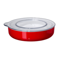 1 piece red color 300ml plastic food jar with lid, storage box