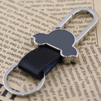 10pcs/Lot Clip on Belt Pants Buckle Beetle Car Keyring Keychain Leather Key Chain Ring Key Fob Holder 84018