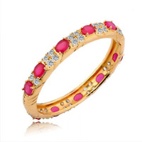 Fashion Fine Jewelry Women 18k Yellow Gold Cuff Bangle Genuine gemstone