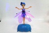 2014 Battery Operated Flying Toy Flying Fairy Electronic Toys Sunbeam Flying Flower Faily Flitter Fairies with Music