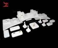 2014 Jewelry Display Set Beige Velvet Jewelry Showcase Counter Rings Display Stand Ring Rack Holder