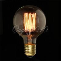 E27 40W G80 Edison Incandescent Vintage Antique Light Bulb Lamp 220V Home Decoration Free Shipping