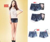 Women Brand Jeans New 2014 Sexy Summer Denim solid blue short Jeans Clubwear short pants Beach Jeans shorts pants