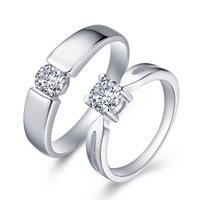 8 - 27 lovers ring day gift platinum ring finger ring