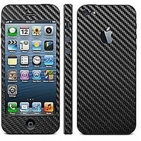 Carbon Fibre Full Body Decal Skin Protector Sticker For Apple iPhone 5 5S Free Shipping
