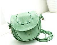 New 2014 Fashion  leather women messenger bag / stylish small Handbag PU candy color vintage girls shoulder bag free shipping