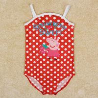 children's bathing suits children swimwear baby & kids piece swimsuit nova brand peppa pig swimwear for girls bikini girl R4968