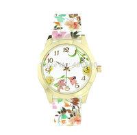 New Women Lady Girl Dress Watch Fashion Flower Pattern Silicone Quartz Watches Factory Sale 40pcs/lot