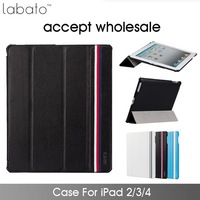 10pcs/lot wholesale Magnetic Smart Cover For Apple iPad Case Stand Function For Tablet Cases PU Leather Case For iPad 2 3 4