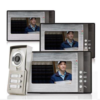 Videocitofono per appartamenti vicini 3 famiglie insieme a