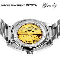2014 free shipping DHL men new fashion stainless watch men mechanical watch