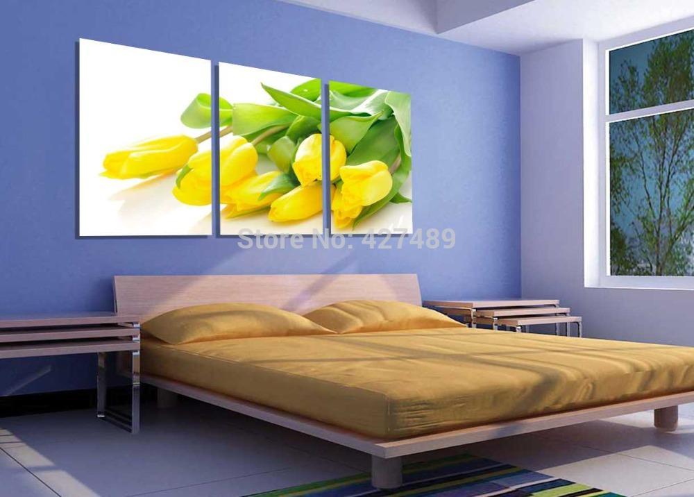 Gele Muur Slaapkamer : ... van het canvas prints fotos p306 abstracte ...