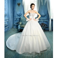 The new European style satin 2014 Bra trailing Stock white Long Tulle Strapless Mermaid Bridal Gown Wedding Dresses Size: 4-28