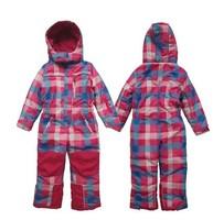 2014 new Russia winter Topolino baby plaid cotton-padded romper kids children windproof & waterproof one-piece overalls