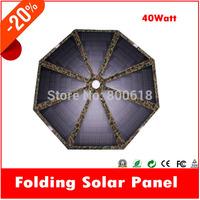 jane 40W 18V / 5V PET/ PV Fold Solar Panel charging for Laptops   car battery