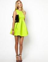 Free shipping 2014 hot sale woman fashion sleeveless high waist ball gown Umbrella dress