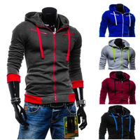 2014 new European Wind Mens Fleece cardigan Hoodie Jacket