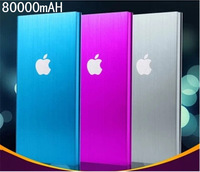Free Shipping Mobile Power Supply New 80000mAH Power Bank Fast Delivery With Retail Packag For iPhone/iPad/Mobile Phone/HTC