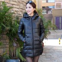 NAIULA Plus Size Slim Long Design PU Leather Hooded Warm Cotton Coat Women Outwear Park Down & Parkas Winter Coat Women AS1274