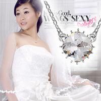 Austria crystal pendant rhinestone bridal necklace jewelry
