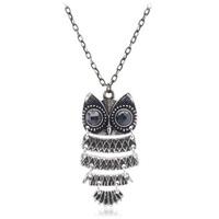 Black chain pendant fashion vintage owl necklace accessories necklace accessories