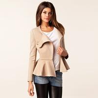 For sm ss fashion women's spring long-sleeve slim zipper slim waist skirt top outerwear