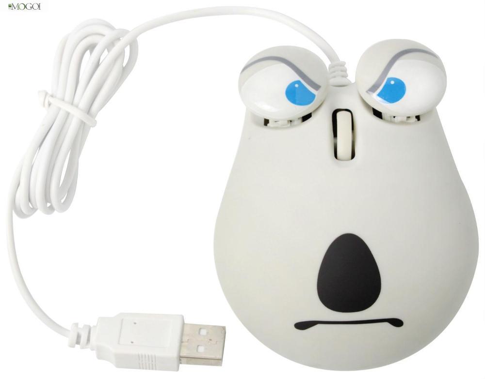 Mogoi 800DPI Cartoon Backkom Anger Face Optical USB Computer Laptop Mouse, Gray(China (Mainland))