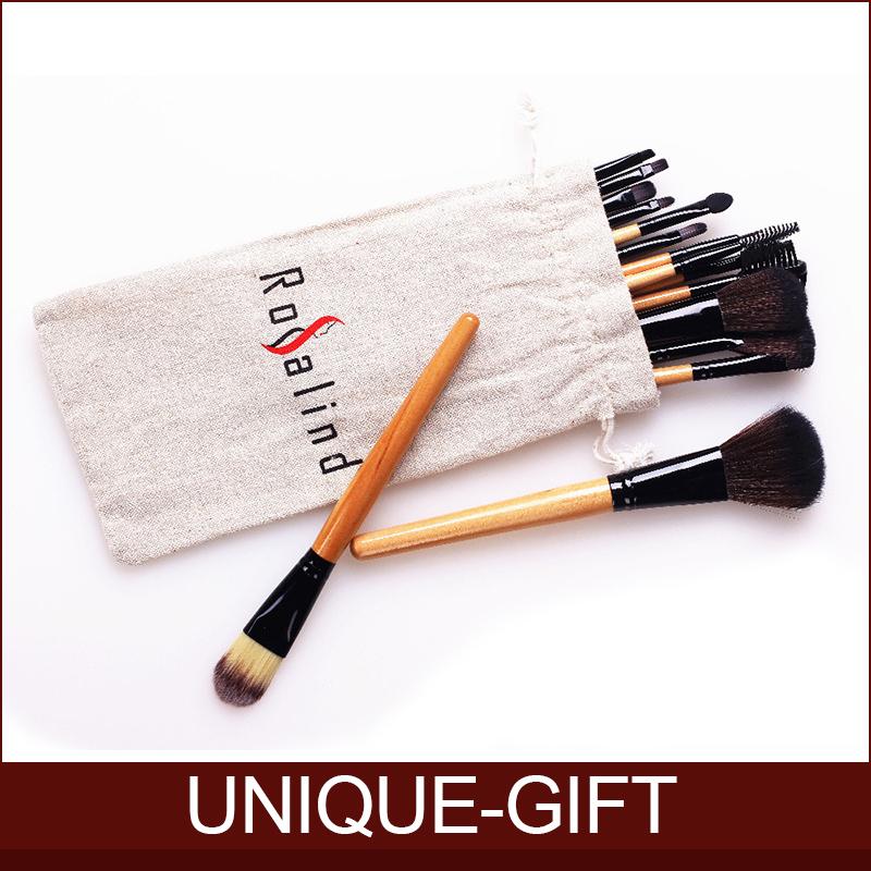 Rosalind New 2014 makeup 18 Pcs Makeup Brushes Set Professional Makeup Brushes & Tools Makeup Brush With Drawstring Bag(China (Mainland))