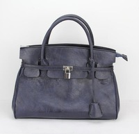 "women's handbag,fashional blue handbag,Size:14 x 6 x 12""(L*W*H),PU + Accessories,Free shipping"