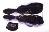 purple      4/4 Violin case Glass Fiber Soft Imitate Leather Pink White Black #GF36