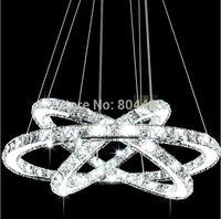 New Modern Crystal 3 Rings Chandelier LED Lighting Fixture