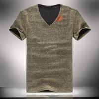 Natural Linen T Shirts for Man Fashion Relaxed Mens Tees Short Sleeve Shirt 2014 Summer New 5xl 4xl ZL5386