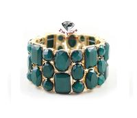 SZ82 Accessories wholesale texture green stretch bracelets
