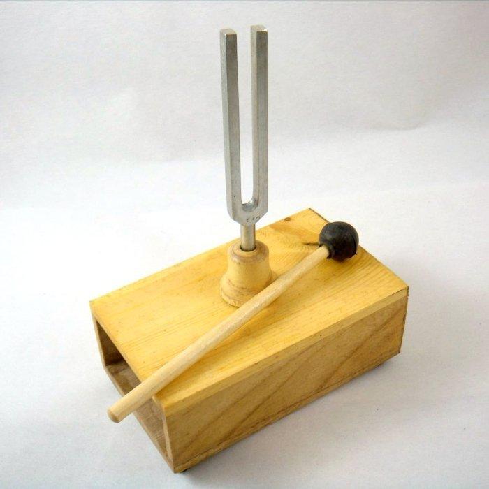 resonance-box-with-tuning-forks-physic-laboratory-equipment-512-Hz jpgResonance Tuning Forks