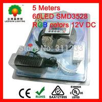 RGB Flexible LED Light Strip LED Bar Light 5meter LED strip+RGB controller+12V 2A Power Supply